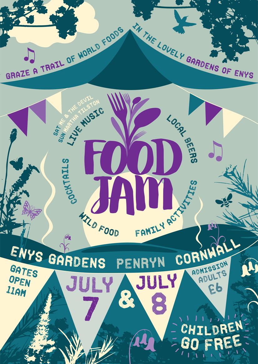 Food Jam 2018 at Enys Gardens