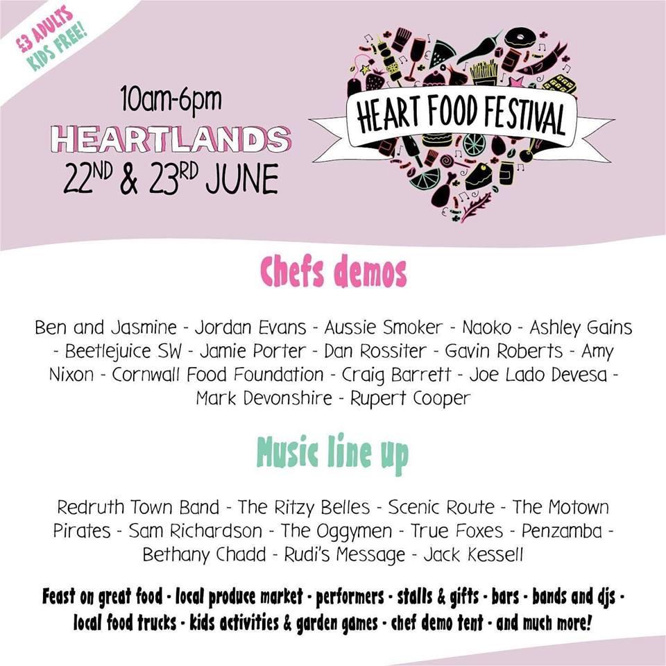 Heart Food Festival 22nd-23rd June 2019