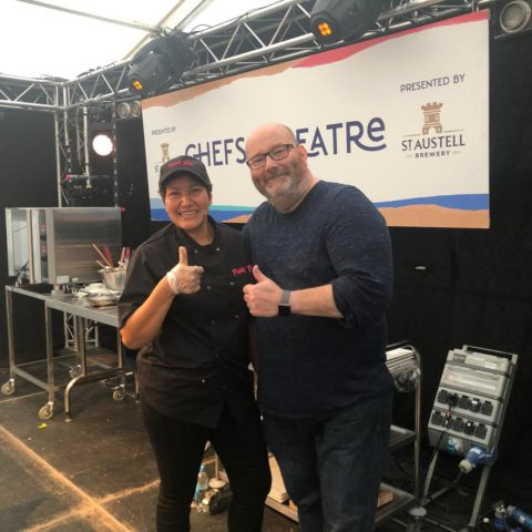 Amy & Steve Ashworth Chefs Theatre 2019 Truro Food Festival