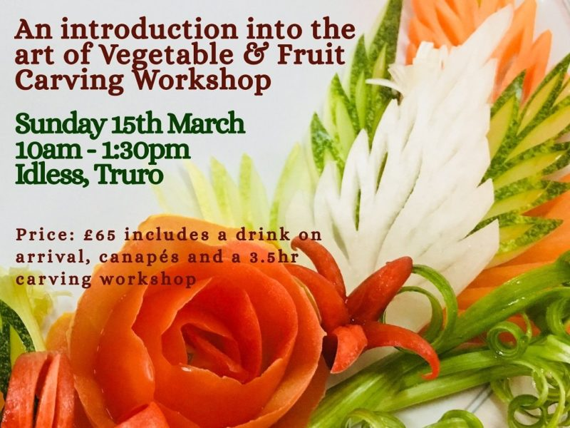 Fruit & Veg Carving Workshop Sunday 15th March 2020